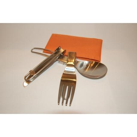 Niezbędnik stalowy GoSystem Stainless Steel Folding Cutlery
